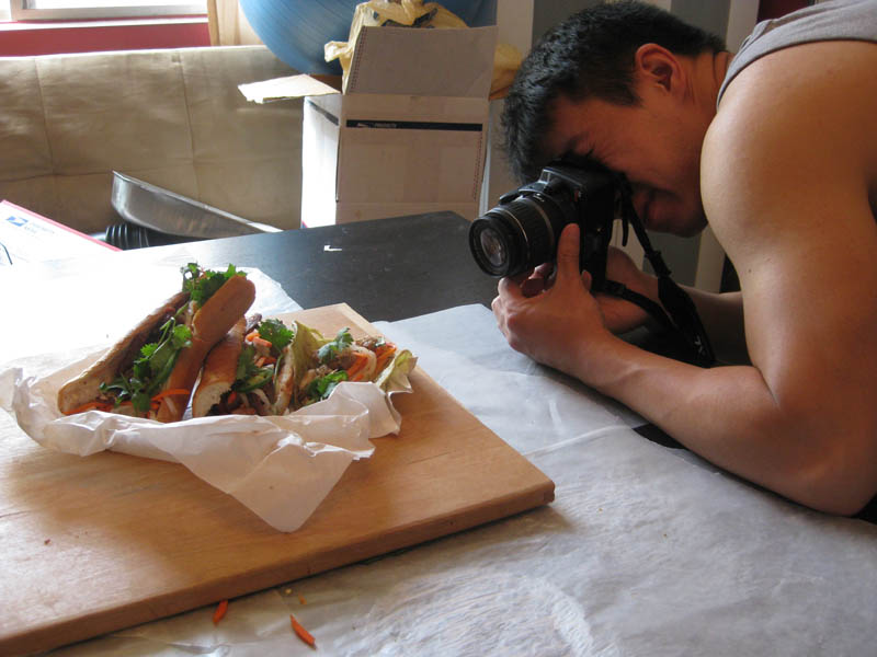 Impromtu Banh Mi photo shoot