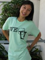 WE NOM U Unisex Tee - Light Green
